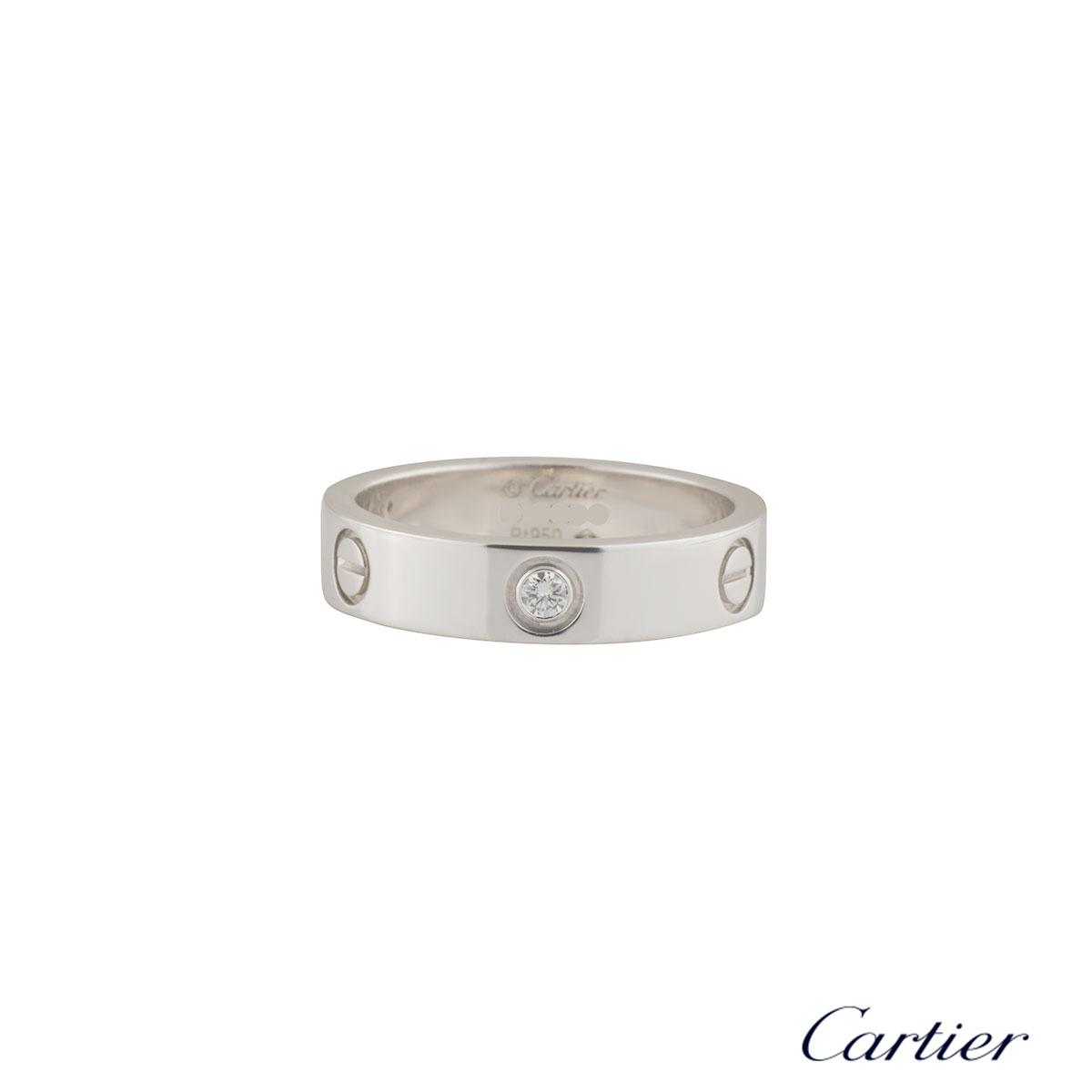 Cartier Platinum Diamond Love Ring B40646765
